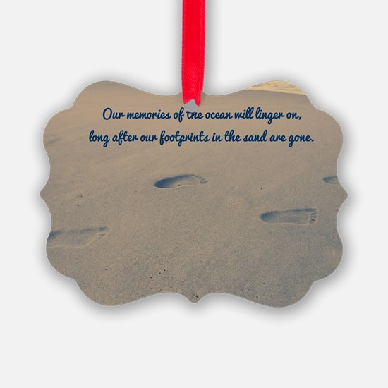 Footprints in the Sand Ornament