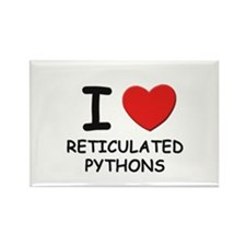 I love reticulated pythons Rectangle Magnet