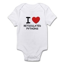 I love reticulated pythons Infant Bodysuit