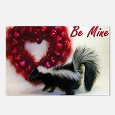 Valentine Skunk Postcards (Package of 8)