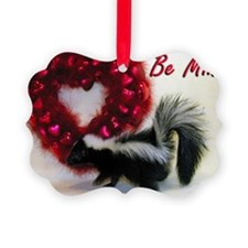 Valentine Skunk Ornament