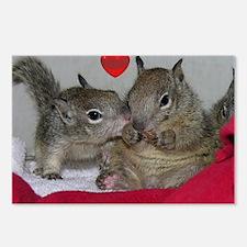 Valentine Squirrels Postcards (Package of 8)