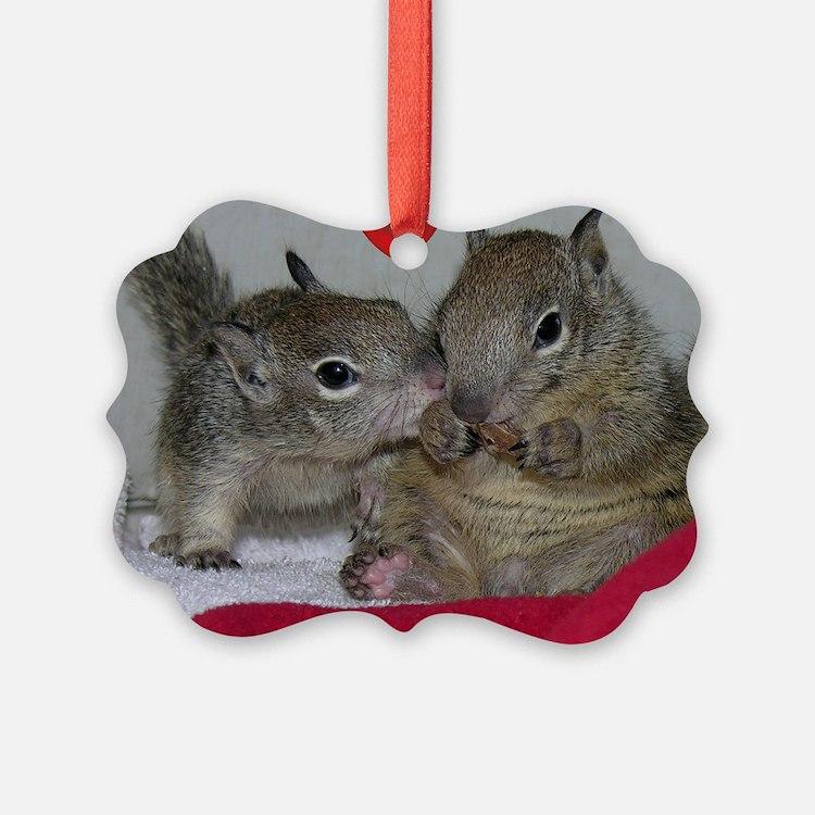 Valentine Squirrels Ornament