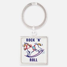 Rockin-Roll Square Keychain