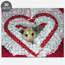 Opossum Valentine Card Puzzle