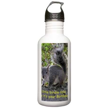 Squirrel Birthday Card Stainless Water Bottle 1.0L