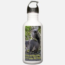 Squirrel Birthday Card Water Bottle