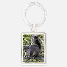 Squirrel Birthday Card - Birdie Portrait Keychain