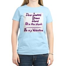 """""""Fill In The Blank"""" Women's Pink T-Shirt"""