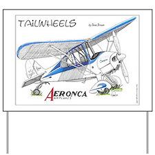 Aeronca airplanes cartoon Yard Sign