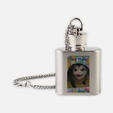Possum Birthday Card - Hey There Flask Necklace