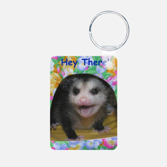 Possum Birthday Card - Hey Aluminum Photo Keychain