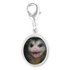 Possum Birthday Card - Hey Ther Silver Oval Charm
