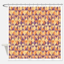 Chatham Geometric Triangle Pattern Shower Curtain
