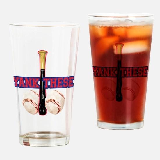 yank_these_balls_1 Drinking Glass