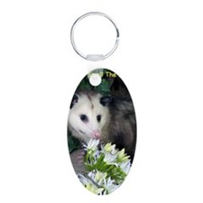Possum Birthday Card - Flow Aluminum Oval Keychain