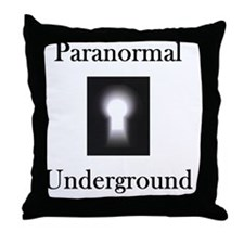 on black Throw Pillow
