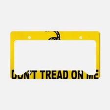 dont tread yard sign License Plate Holder