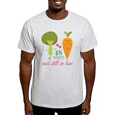 48 Year Anniversary Veggie Couple T-Shirt