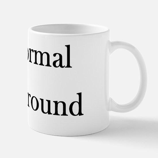 Black Text Mug