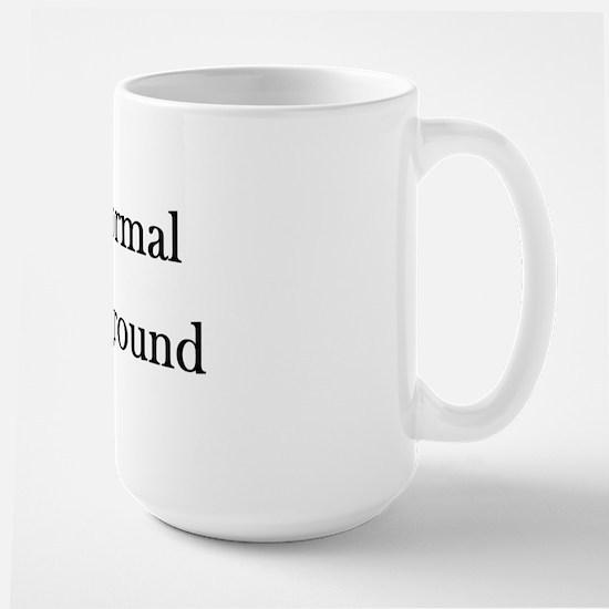 Black Text Large Mug