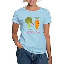 47 Year Anniversary Veggie Couple T-Shirt