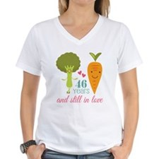 46 Year Anniversary Veggie Couple Shirt