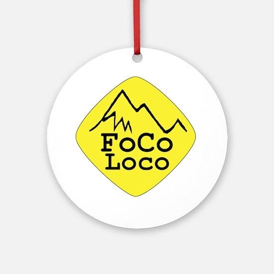 focoloco yellow Round Ornament
