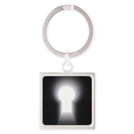 logo only Square Keychain