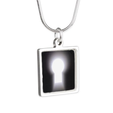 logo only Silver Square Necklace
