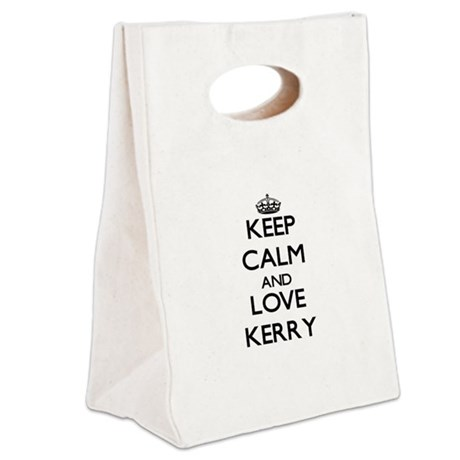 Keep Calm and Love Kerry Canvas Lunch Tote
