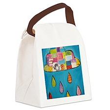 Happy Cloud Canvas Lunch Bag