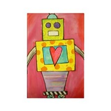 Love Robot Rectangle Magnet