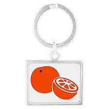 orange Landscape Keychain