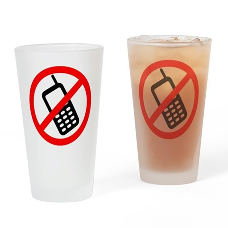 NoCellPhonesf Drinking Glass