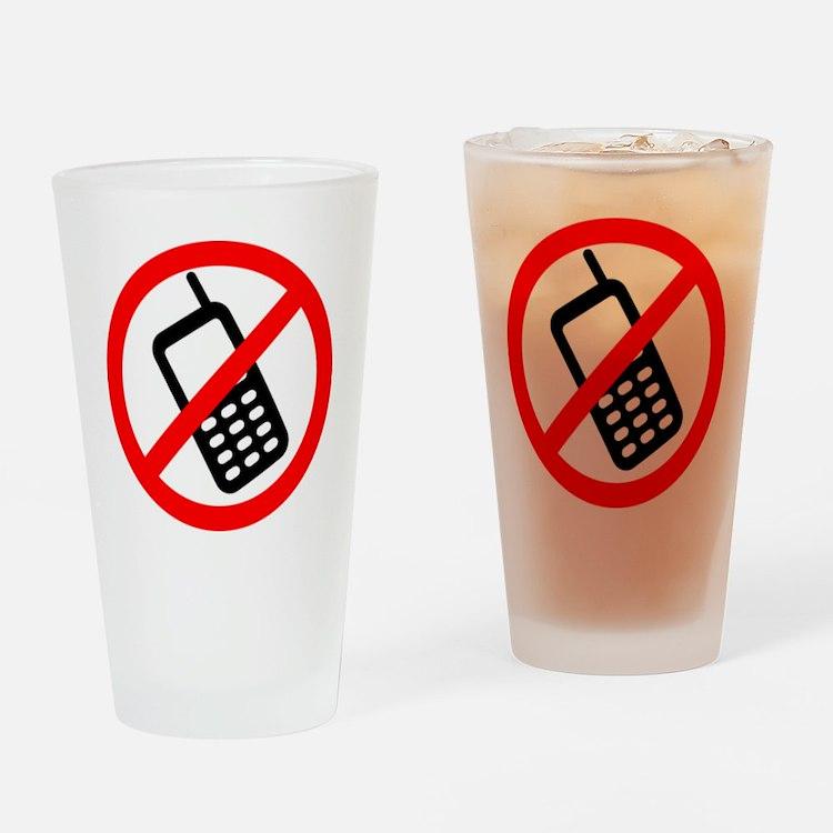 NoCellPhonesf Drinking Glass