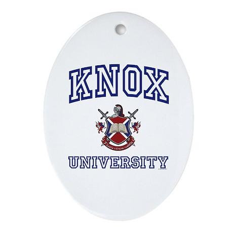 KNOX University Oval Ornament