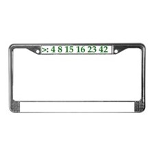 Computer Numbers.gif License Plate Frame