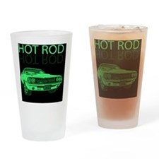 hot_rod_green Drinking Glass