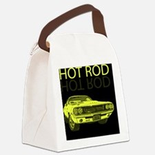 hot_rod_yellow Canvas Lunch Bag