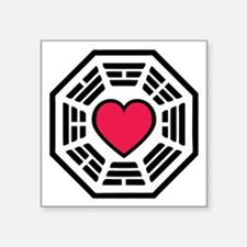"lovedharma2BLK-BIG Square Sticker 3"" x 3"""
