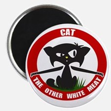 cattheotherwhitemeat.gif Magnet