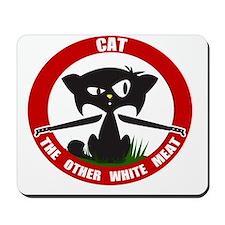 cattheotherwhitemeat.gif Mousepad