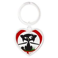 cattheotherwhitemeat.gif Heart Keychain