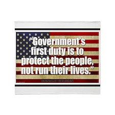 Ronald Reagan Quotes Throw Blanket