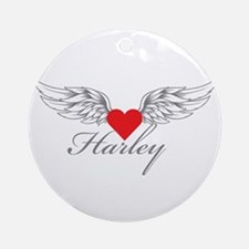 Angel Wings Harley Ornament (Round)