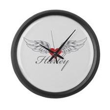 Angel Wings Harley Large Wall Clock