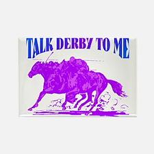 talk derby Rectangle Magnet