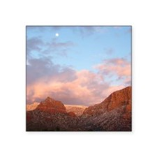 "Sedona at Sunset Square Sticker 3"" x 3"""
