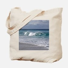 Waves on Friendly Beach Tote Bag